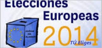 La pegada de carteles abrió la campaña de las elecciones europeas en Huévar del Aljarafe