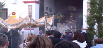 Todo preparado en Huévar del Aljarafe para la Fiesta del Corpus Christi