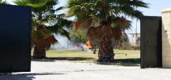 El fuego causa daños de consideración en una finca del termino municipal de Huévar