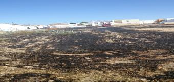 Se produce un Incendio de pastizal en las inmediaciones de la calle Padre Medina Ramirez