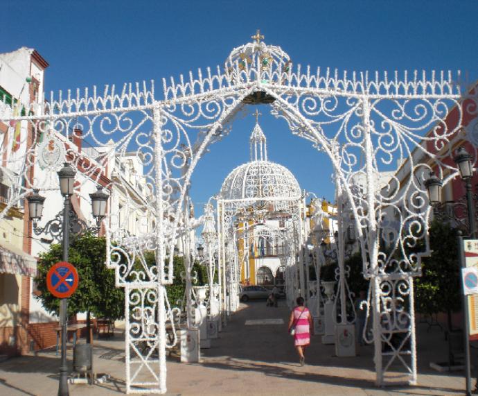 Plaza España Engalanada - Foto archivo