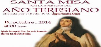 El miercoles 15 de Octubre, comienza el Año Jubilar Teresiano