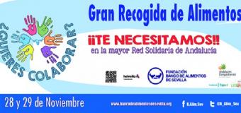 Huévar se lanza con sus voluntarios del Banco de Alimentos a la «la gran recogida»