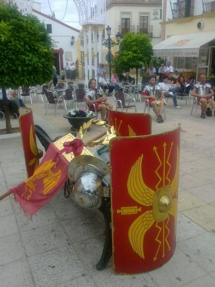Momento del rodaje en la Plaza España en 2011