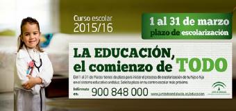 Da comienzo el plazo para la escolarización en Andalucía