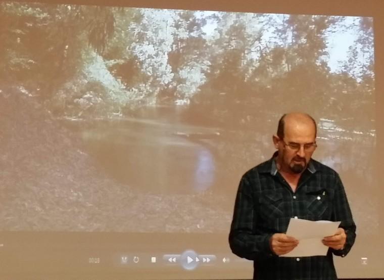 El Naturalista Joaquin Cid Leal en un momento de su intervención