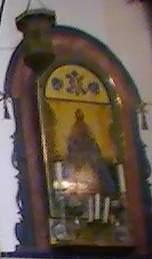 Antiquisimo azulejo de la Virgen de los Reyes de la Parroquia de Huévar
