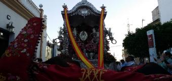 Huévar emprende su caminar Rocíero con 19 carriolas