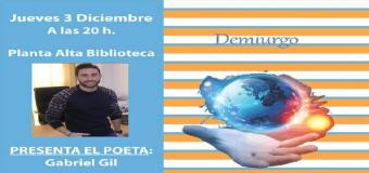 """Israel Álvarez presentará su segundo poemario, """"Demiurgo"""""""