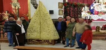 Presentado el nuevo Manto para la Virgen de Belén de Pilas