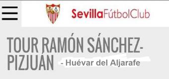 La Peña Sevillista de Huévar visita el Tour del Estadio D. Ramón Sanchez Pizjuan