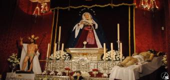 El Cristo Yacente y la soledad de Huévar volvera a representar la iconografia de la Piedad