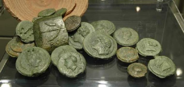 monedas bronce romanas tomares