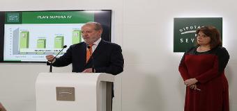 Pleno de Diputación de Sevilla aprueba bases del Supera 4 con la abstención de IU y C's