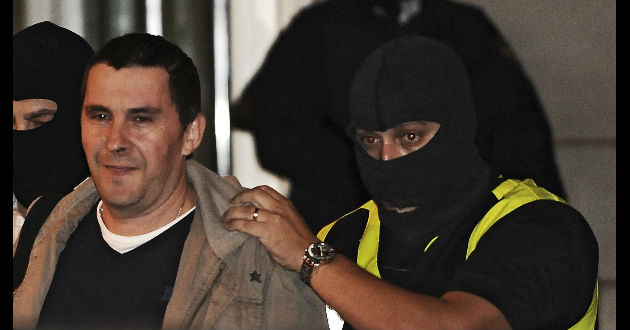 Arnaldo Otegui cuando fue detenido