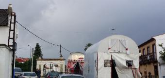 Huévar efectúa su salida bajo un miércoles tormentoso