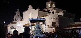 La Virgen del Rocío colma de gozo a los romeros de Huévar del Aljarafe