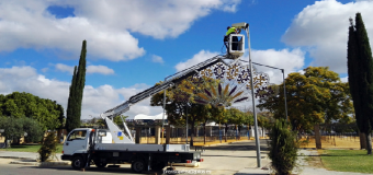 El Ayuntamiento de Pilas da los últimos retoques en el Recinto Ferial