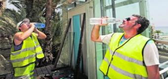 Reducido el horario de los trabajadores de la construcción debido al calor