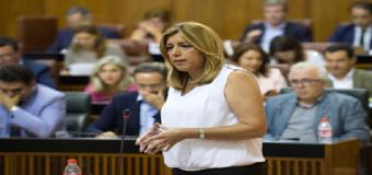 Susana Díaz avanza la puesta en marcha de los nuevos planes de empleo en octubre con el dinero adelantado a los ayuntamientos