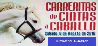 Carreritas de cintas a caballo de la Hermandad del Rocío de Huévar del Aljarafe