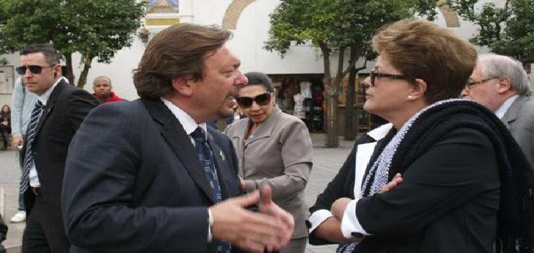 Ballesteros, en la visita que hizo a Sevilla Dilma Rouseff - ABC