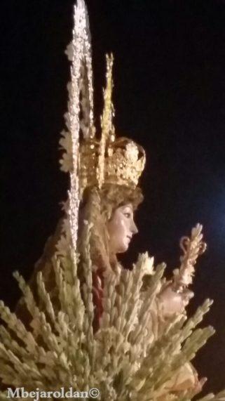 María Santísima de la Sangre durante el recorrido