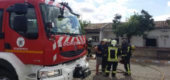HUËVAR – Una vivienda sale ardiendo en la Plaza San Sebastian
