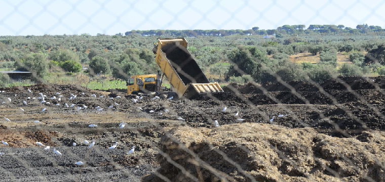 Instalaciones de la planta de compostaje del municipio onubense de Almonte - ABC