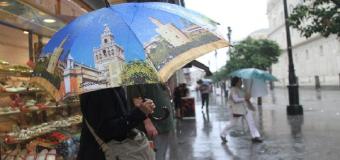 La lluvia  y el descenso de las temperaturas estaran presentes este próximo fin de semana en Sevilla