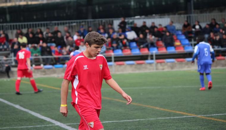 Pozo es el jugador más joven del Sevilla Atlético.