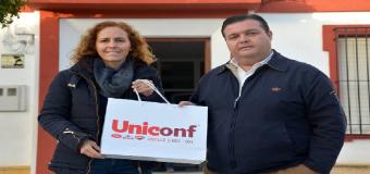 UNICONF DONA 300 KILOS DE GALLETAS AL BANCO DE ALIMENTOS MUNICIPAL DE BENACAZÓN