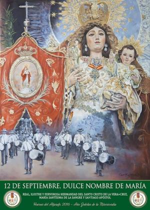 Cartel de María Santisima de la Sangre de Huévar del Aljarafe por César Ramírez