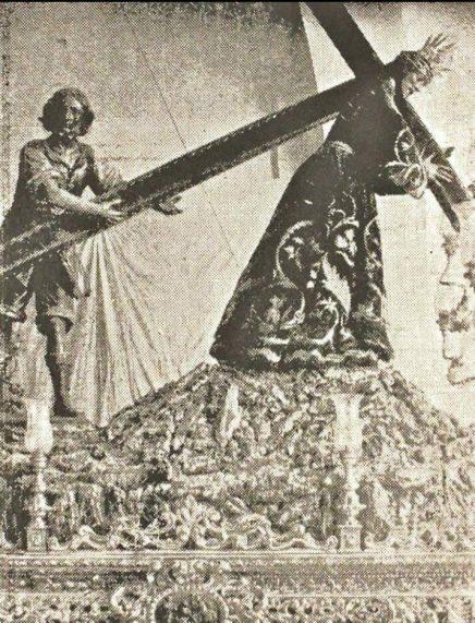 El Nazareno de Sanlúcar en una añeja estampa