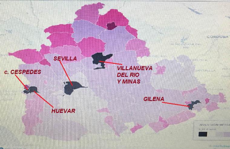 Municipios que se quedan fuera incluido el ispalense