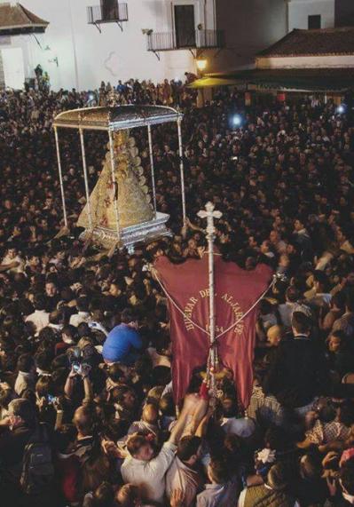 Huévar del Aljarafe es la primera Hdad que visita la Virgen en su recorrido
