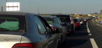 La a-49 de en el tramo de Huévar del Aljarafe, acoge una fuerte intensidad de tráfico