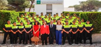 La Alcaldesa de Huévar en la clausura el curso de la XLII Promoción de Ingreso de la ESPA, en el que se han formado 40 nuevos agentes