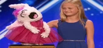 El increíble talento de esta niña ventrílocua cantando está arrasando en todo el mundo