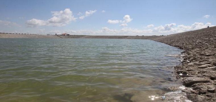 Pantano de Melonares, inaugurado en 2015 y actualmente con agua para un año de consumo en Sevilla - RAÚL DOBLADO