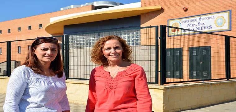 De izquierda a derecha - Ana Caro y la ALcaldesa Juana María