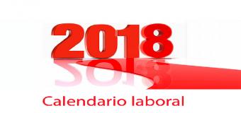 Calendario laboral para el año 2018