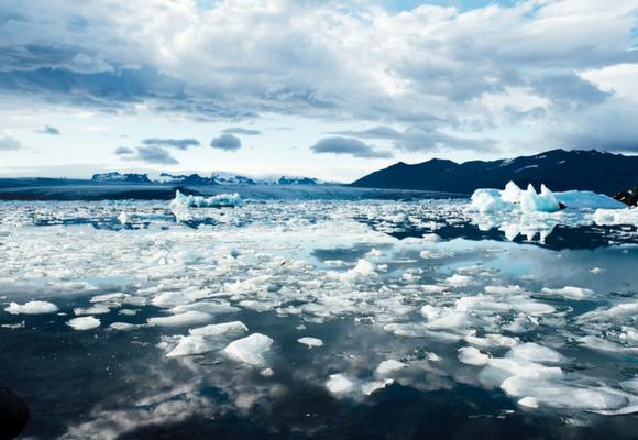 Glaciares derretido alertan del calentamiento global