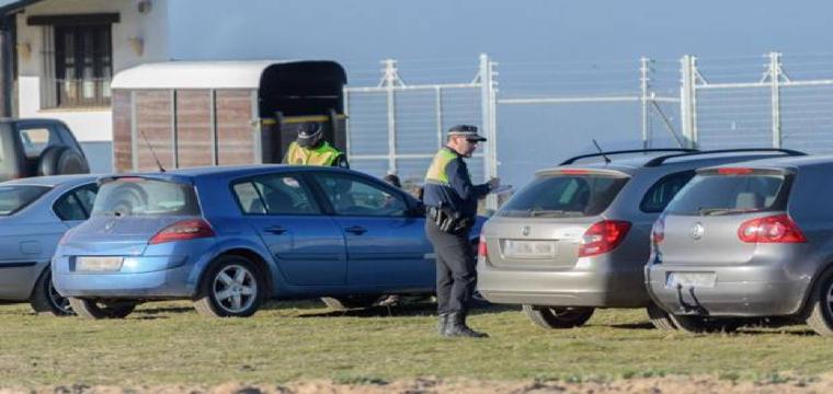 PolicÍas locales multan a vehÍculos mal estacionados el pasado fin de semana en El Rocío - MIGUEL A. JIMÉNEZ