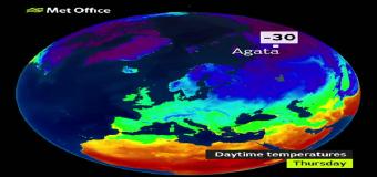 Una ola de frío siberiana está llegando a Europa: se esperan mínimas de -20ºC