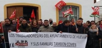 El Comite de Empresa municipal de Huévar del Aljarafe se reúne con grupos de la Diputación y valoran un plan especial