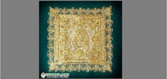 Nuevo pañuelo de tul tejido con hilos de oro para la Virgen de la Sangre