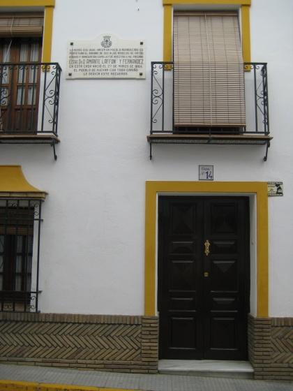 Vivienda en Huévar donde nació Amante Laffón