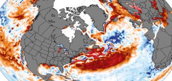 Profundas anomalías positivas en el Atlántico Norte