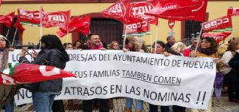 La plantilla municipal de Huévar llevara los impagos de sus nominas ante Trabajo